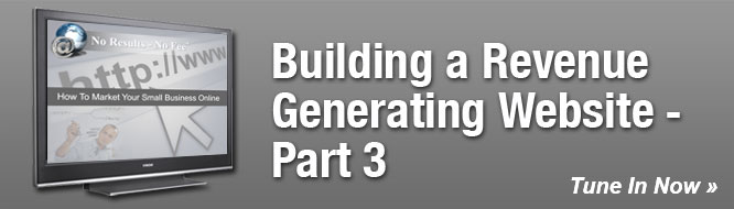 Building a Revenue Generating Website - Part 3