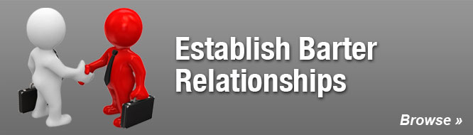 Establish Barter Relationships