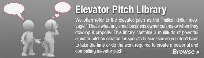 Elevator Pitch Library