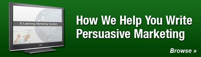 How We Help You Write Persuasive Marketing