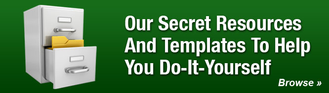 Our Secret Resources And Templates To Help You Do-It-Yourself