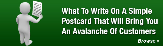 What To Write On A Simple Postcard That Will Bring You An Avalanche Of Customers