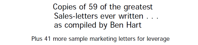 59 of the Greatest Sales Letters Ever Written