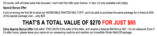 "Hair Salon: ""Incredible Winter Thaw"" Package Letter"