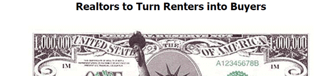 Letter for Realtors Turning Renters into Buyers