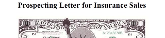 Prospecting Letter for Insurance Sales