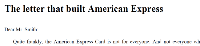The Letter That Built American Express