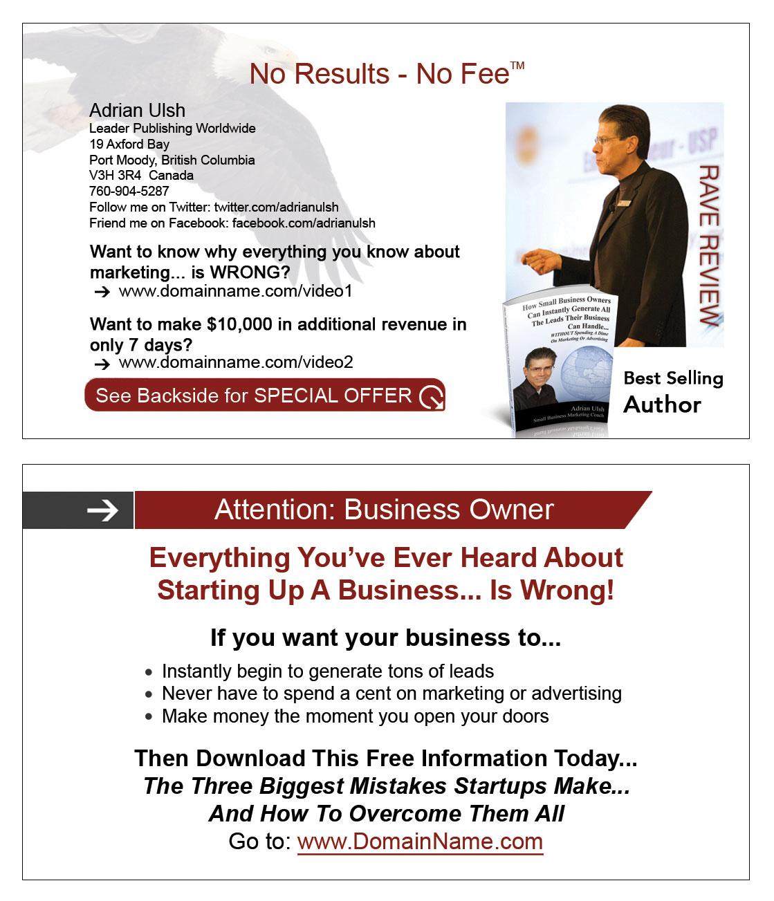 Start Up Business Card Template